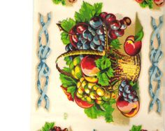 XL VinTaGe IMaGe FRuiT RePro KiTcheN ShaBby WaTerSLiDe DeCALs *FuRNiTuRe SiZe*