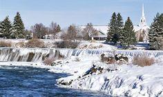 5. Idaho Falls, Idaho (© Tony Waltham/Robert Harding/drr.net) ... Too cold!  But beautiful.