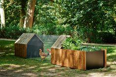 Studio Segers' Ultra-Modern Chicken Coop - Garden Collage