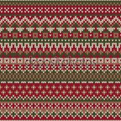 Noel kazağı Tasarla. Dikişsiz örgü desen, geleneksel Fair Isle tarzda — Stok İllüstrasyon #59241523