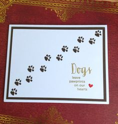 Pet Sympathy Card, Pet Loss Card, Dog Sympathy Card, Handmade Card