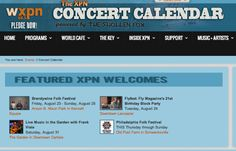 Featured XPN Welcome ~ Brandywine Folk Festival Friday, August 23 - Sunday, August 25 Anson B. Nixon Park in Kennett Square