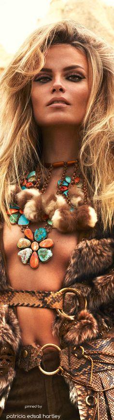 Natasha Poly - Vogue Paris - September 2015....BOHO FASHION