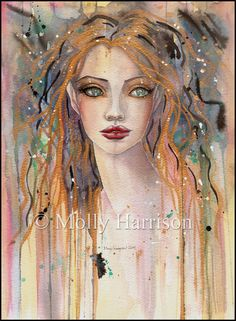 Molly Harrison Abstract Portrait Fantasy Artwork - The Fairy and ...