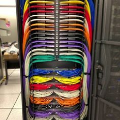 Colorful Rainbow Cable Management