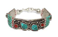 Coral Turquoise Bracelet Boho Bracelet Handmade Bracelet