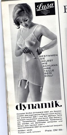 """Susa Dynamik 6167 (Germany) open all-in-one. """"Determine for yourself how slim you waist will be. Vintage Girdle, Vintage Bra, Vintage Underwear, Retro Lingerie, Lingerie Models, Women Lingerie, How To Be Slim, Lingerie Catalog, Susa"""