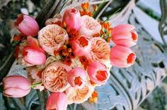 peach and coral wedding
