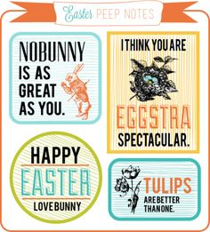 Freebie | Easter Peep Notes for Couples · Scrapbooking | CraftGossip.com