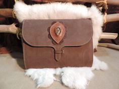 Large Leather Journal. Fits IPad and some by RoundOakLeather