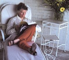 Katharine Hepburn reading in 1981.