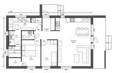 Kompakti 83 - Jopera   Valmistalot ja Talopaketit Floor Plans, Floor Plan Drawing, House Floor Plans