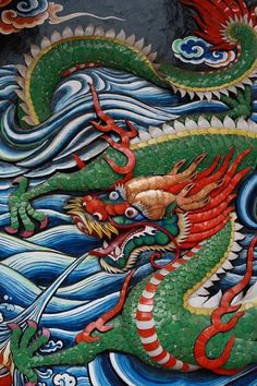 RP: Chinese Temple  - Wayang Street Kuching - Sarawak #borneotattoos #borneo #tattoos #malaysia Japanese Dragon, Japanese Art, Chinese Culture, Chinese Art, Statues, Types Of Dragons, Chinese Mythology, Dragon Images, Year Of The Dragon