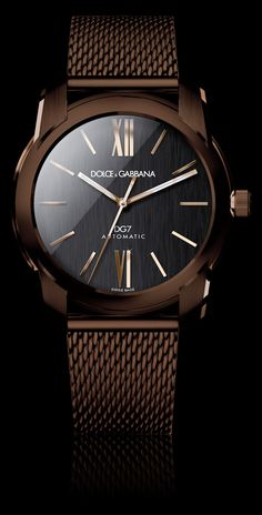 Men's Watch - PVD, Gold and Brown Strap - D&G Watches | Dolce & Gabbana Watches for Men and Women. #watch #dolcegabbana
