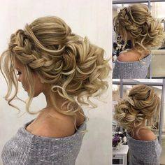 Einzigartige Frisuren für langes Haar für Prom Updo – Frisuren Ideen You can collect images you discovered organize them, add your own ideas to your collections and share with other people. Wedding Hairstyles For Long Hair, Wedding Hair And Makeup, Unique Hairstyles, Short Hairstyles For Women, Up Hairstyles, Pretty Hairstyles, Hair Makeup, Quince Hairstyles, Hairstyle Wedding