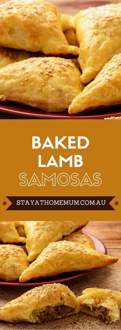 Lamb is such an under-utilised meat, but we love it in these Baked Lamb Samosas. They are pretty much everything we want from a samosa, full of soft and spicy curry flavour inside and crisp as anything on the outside Samosas, Meat Samosa, Beef Samosa Recipe, Vegetable Samosa, Lamb Recipes, Indian Food Recipes, Gourmet Recipes, Cooking Recipes, Healthy Recipes