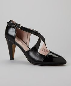 Take a look at this Black Philadelphia Cross-Strap Pump by Bellini on #zulily today!