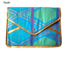 Patterned Envelope Clutch
