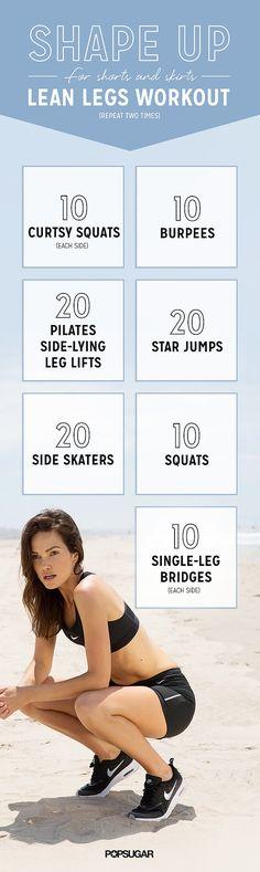 Printable Shorts Workout | POPSUGAR Fitness
