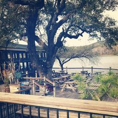 Mozart's Coffee off of Lake Austin Blvd - the perfect calm atmosphere before heading to SX events.