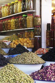 Olives, Souk Marrakech. Photo by Melanie el Haddad