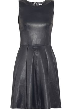 just rocked a half leather dress (top was leather, bottom was pleats) today, loving on the leather trend.