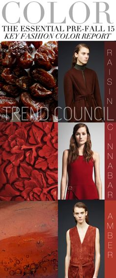 TRENDS // TREND COUNCIL - PRE-FALL 15 COLOR TRENDS