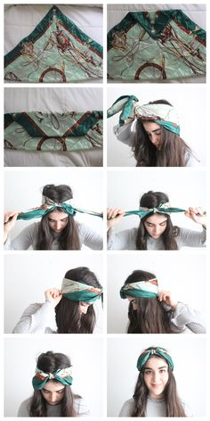 Bandana Hairstyles Short, Headbands For Short Hair, Headband Hairstyles, Braided Hairstyles, Hair Wrap Scarf, Hair Scarf Styles, Curly Hair Styles, Mode Turban, Long Hairstyles