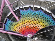 Crochet rainbow granny skirt guard