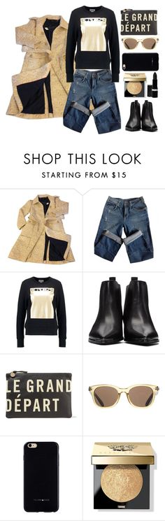 """le grand depart"" by juliehalloran ❤ liked on Polyvore featuring Marc by Marc Jacobs, Sandro, Converse, Acne Studios, Clare V., ToyShades, Felony Case, Bobbi Brown Cosmetics and Hard Candy"