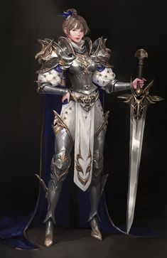 Fantasy Concept Art, Fantasy Character Design, Character Design Inspiration, Character Concept, Character Art, Fantasy Images, Fantasy Women, Fantasy Female Warrior, Female Armor
