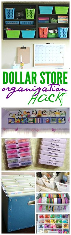DIY Dollar Store Organization Tips! Great ideas for cleaning out and getting organized! DIY Dollar Store Organization Tips! Great ideas for cleaning out and getting organized! Organisation Hacks, Organizing Hacks, Organizing Your Home, Craft Organization, Organising, Craft Storage, Hacks Diy, Closet Organization, Kids Storage