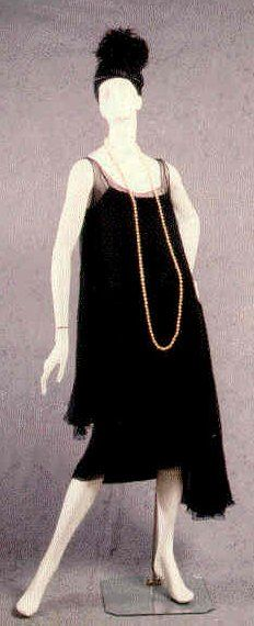 Rope of Pearls with Chanel Dress - c. 1927 - House of Chanel (French, founded 1913) - Design by Gabrielle 'Coco' Chanel (French, 1883-1971)