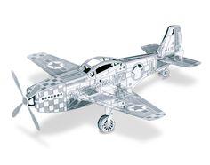 Metal Earth 3D Laser Cut Model Mustang P-51 – Metal Earth Models