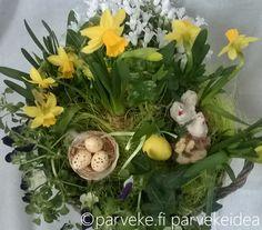 Iloista pääsiäistä! #parveke #pääsiäinen #teepääsiäisasetelma #parvekkeenpääsiäinen
