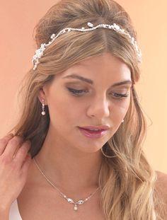 Diamante Vine with Flowers by Arianna Tiaras - Arianna Tiaras