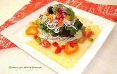 QUIERO SER SÚPER FAMOSA: Ensalada de gulas con vinagreta de hortalizas