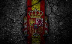 Descargar fondos de pantalla escudo de armas de España, el escudo de armas, el grunge, la bandera de España, el arte, el simbolismo de España