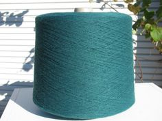 Hunter Green Keel Acrylic Machine Knitting Cone by stephaniesyarn, $14.00