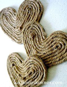 Kammy's Korner: How to Make a Jute Rope Heart Embellishment