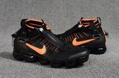 c275ed6d34a Nike Air Vapormax Flyknit Zipper Black Orange 899473 010 Men s Running Shoes  Running Women