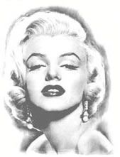 Marilyn Monroe  Temporary Tattoo