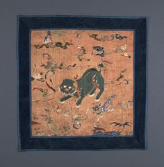Annamese Mandarin Square depicting two lions. Letcher, University of Pennsylvania Museum of Archaeology and Anthropology © 2016 Penn Museum Vietnam, Classic Paintings, Museum Collection, Chinese Art, Asian Art, Archaeology, Lions, Vintage World Maps, History