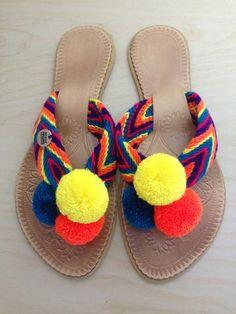 Moraleche Pompom Flip-Flops