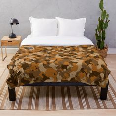 'Army camo design' Throw Blanket by MidnightBrain Camo Designs, Army Camo, Duvet Bedding, Bed Covers, Blanket, Printed, Awesome, People, Stuff To Buy