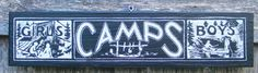 1920s Vintage Summer Camp Sign by Zietlow's Custom Signs - eclectic - outdoor decor - by Etsy