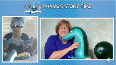 """Poke is famous now! Here I am reading When Poke Woke as part of the Philadelphia Union Soccer Team's """"Phang's Story Time."""""""
