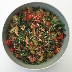 Grillet kartoffelsalat Frisk, Black Eyed Peas, Food And Drink, Potato Salad