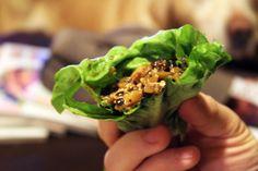 Tofu lettuce wraps--amazing!