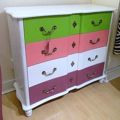 Childrens painted chest of drawers